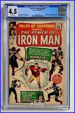 Tales of Suspense #57 CGC 4.5 (1964) Origin & 1st App. Of Hawkeye