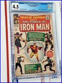 Tales of Suspense #57 CGC 4.5 1st App of Hawkeye Disney+ Show Soon 1964