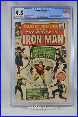 Tales of Suspense #57 CGC 4.5 1st Appearance Hawkeye 1964