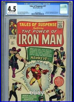 Tales of Suspense #57 CGC 4.5 OWTW Pages 1st Hawkeye