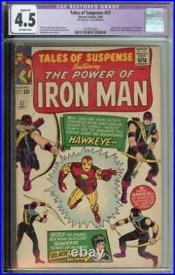 Tales of Suspense #57 CGC 4.5 (R) Origin 1st App Hawkeye