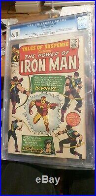 Tales of Suspense #57 CGC 6.0 (1st Hawkeye & Origin) 1964 Marvel Comics