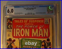 Tales of Suspense #57 CGC 6.0 FN, 1964, Origin/1st app. Hawkeye, Larry Lieber art