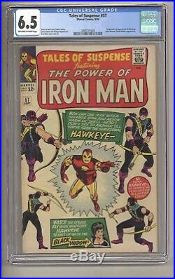 Tales of Suspense 57 (CGC 6.5) OWithW pgs Origin/1st app. Hawkeye 1964 (c#27076)