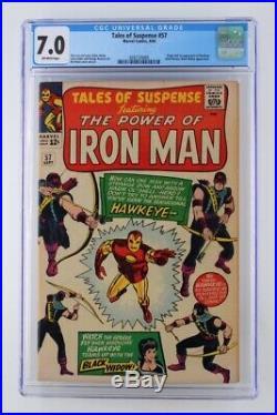 Tales of Suspense #57 CGC 7.0 FN/VF Marvel 1964 1st & ORIGIN App Hawkeye