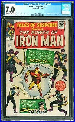 Tales of Suspense 57 CGC 7.0 (First Appearance of Hawkeye)