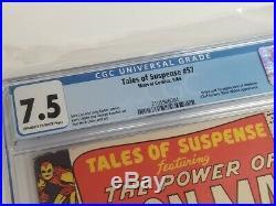 Tales of Suspense #57 CGC 7.5 Iron man Black Widow 1st Appearance Hawkeye
