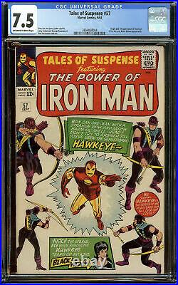 Tales of Suspense #57 CGC 7.5 OWithW 1st Appearance of Hawkeye (Clint Barton)