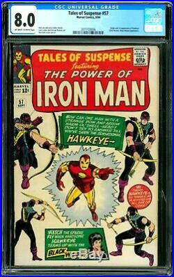 Tales of Suspense 57 CGC 8.0 (First Appearance of Hawkeye)