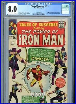 Tales of Suspense #57 CGC 8.0 OWTW Pages 1st Hawkeye