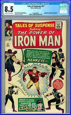 Tales of Suspense #57 CGC 8.5 (OW-W) Origin & 1st Appearance of Hawkeye