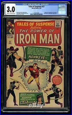 Tales of Suspense #57 CGC GD/VG 3.0 Cream To Off White 1st Hawkeye! Iron Man