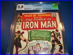 Tales of Suspense #57 Silver Age Key 1st Hawkeye CGC 5.0 VG Iron Man Black Widow