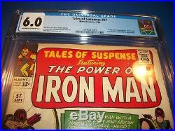 Tales of Suspense #57 Silver Age Key Origin/1st Hawkeye CGC 6.0 F Black Widow