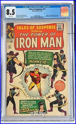 Tales of Suspense #57 VF/NM 8.5 WHITE PAGES 1964 Marvel 1st Hawkeye & origin