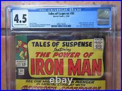 Tales of Suspense 58 CGC 4.5 Captain America vs Iron Man, 2nd Kraven