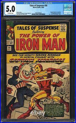 Tales of Suspense #58 CGC 5.0 2nd APP KRAVEN! Classic cover