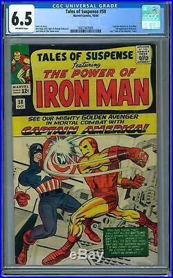 Tales of Suspense #58 CGC 6.5 (OW) Captain America vs Iron Man