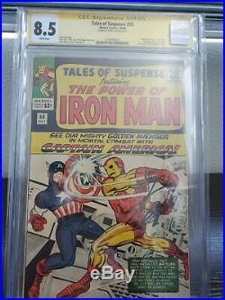 Tales of Suspense #58 CGC 8.5 SS STAN LEE Captain America vs Iron Man KIRBY