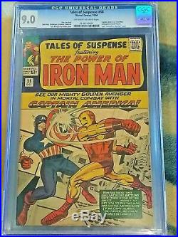 Tales of Suspense #58 CGC 9.0 VF/NM Capt. America Iron Man KEY SILVER AGE