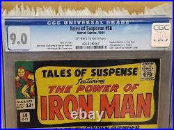 Tales of Suspense #58 CGC 9.0 VF/NM Captain America Iron Man HUGE Silver Age Key
