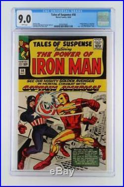 Tales of Suspense #58 CGC 9.0 VF/NM Marvel 1964 Captain America & Iron Man