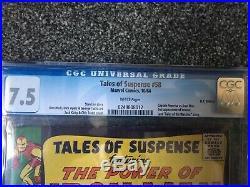 Tales of Suspense # 58 Captain America vs Iron Man! CGC 7.5! Civil War Fight