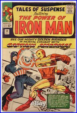 Tales of Suspense #58 VG/FN 5.0 1st Captain America vs Iron Man 2nd Kraven app