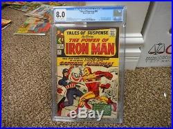 Tales of Suspense 58 cgc 8.0 Marvel 1964 Captain America vs Iron Man owithw pgs VF