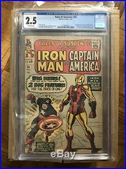 Tales of Suspense #59 1964 1st silver age Captain America solo 1st app Jarvis