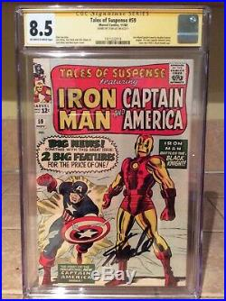Tales of Suspense 59 (1st Solo Captain America story) CGC 8.5 signed Stan Lee