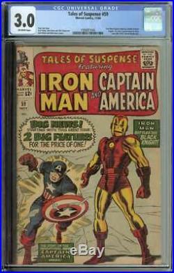 Tales of Suspense #59 CGC 3.0 1st Solo Captain America Story Iron Man