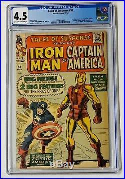 Tales of Suspense #59 CGC 4.5 Marvel 1964 1st Iron Man & Captain America Issue