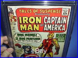 Tales of Suspense #59 CGC 8.0 OWithW pages 1964! 1st Solo Captain America not CBCS