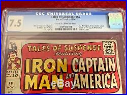 Tales of Suspense 59 (CGC Graded)1st solo Captain America story since the 1950's