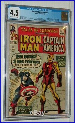 Tales of Suspense #59 CGC (not CBCS) VG 4.5 1st solo Captain America since 1950s