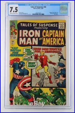 Tales of Suspense #60 CGC 7.5 VF- Marvel 1964 Hawkeye & Black Widow App