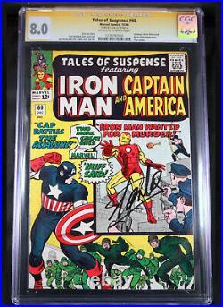 Tales of Suspense 60 CGC 8.0 SS AUTO STAN LEE Captain America Iron Man Avengers