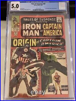 Tales of Suspense #63 CGC 5.0 1st Silver-Age ORIGIN of Captain America