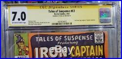 Tales of Suspense #63 CGC 7.0 SS Stan Lee 1st Silver Age origin Captain America