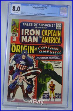 Tales of Suspense #63 CGC 8.0 White Pages Origin Captain America