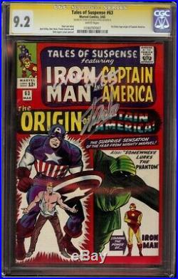 Tales of Suspense # 63 CGC 9.2 White SS (Marvel 1965) Stan Lee, Dick Ayers Sigs
