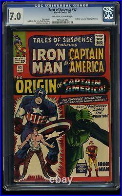 Tales of Suspense #63 CGC FN/VF 7.0 Off White to White Iron Man