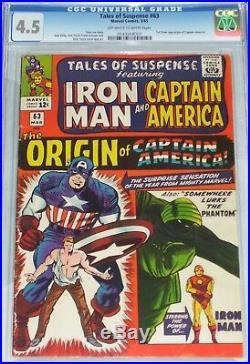 Tales of Suspense #63 CGC graded 4.5 1st Silver Age Origin of Captain America