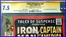 Tales of Suspense #63 (Mar 1965, Marvel) CGC SS STAN LEE AND JOE SIMON