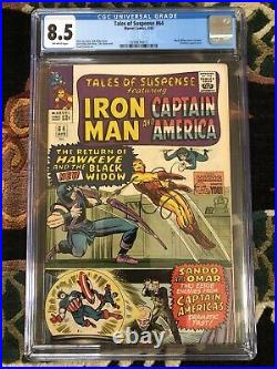Tales of Suspense #64 CGC 8.5 OW Pages 1st Black Widow Costume Early Hawkeye