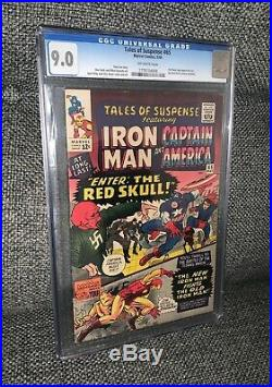 Tales of Suspense 65. 1st appearance Red Skull. Marvel Silver Age. CGC 9.0 VF/NM