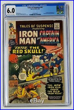 Tales of Suspense #65 CGC 6.0 OW 1st Silver Age Red Skull Marvel Comics 1965