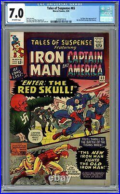 Tales of Suspense #65 CGC 7.0 1965 2100672010 1st Silver Age app. Red Skull