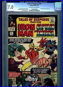 Tales of Suspense #67 CGC 7.0 (1965) Iron Man & Captain America Jack Kirby